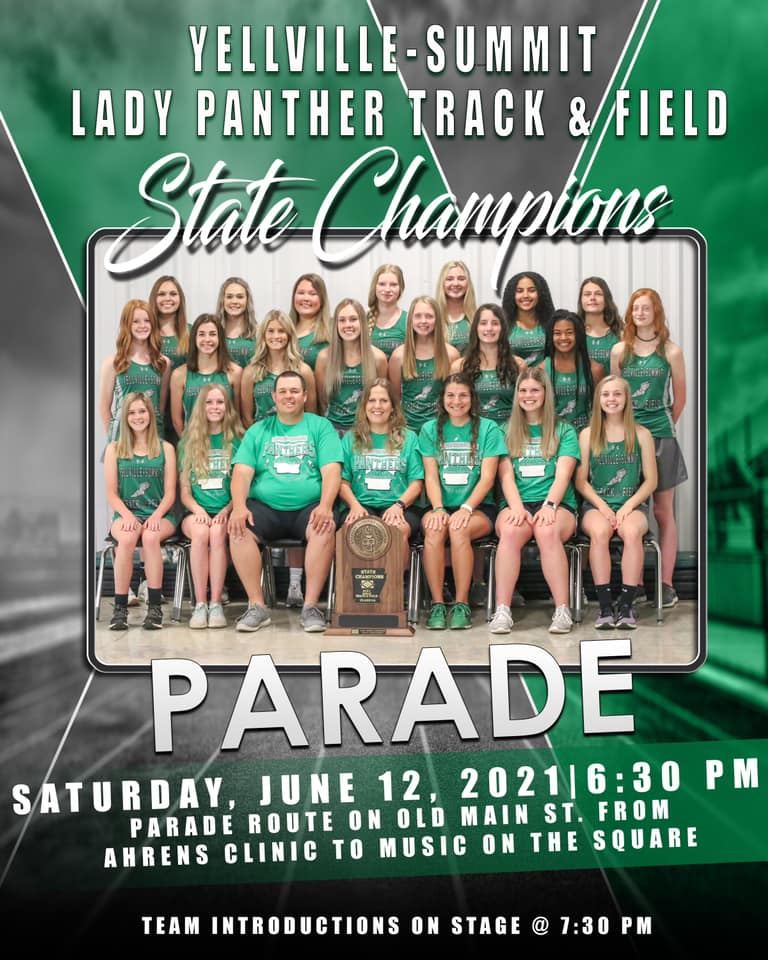 Parade Set to Celebrate State Champions